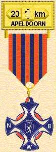 medaille in Apeldoorn van 20 km