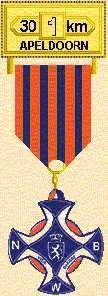 medaille in Apeldoorn van de 30 km