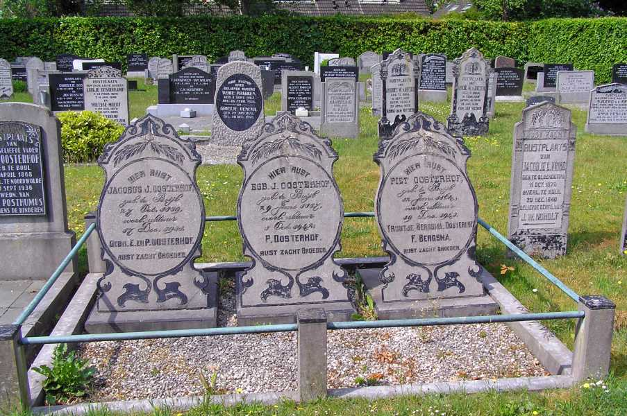 Met de Drentsch-Friese Wold Wandelvierdaagse (Diever) 2008  begraafplaats Boijl