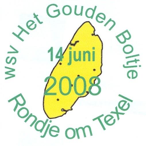Rondje om Texel op zaterdag 14 juni 2008  wandelplaatje