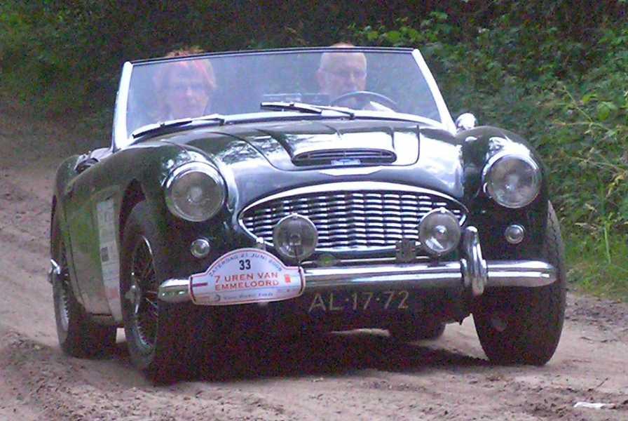 21e Kennedymars van TIGO te Steenwijk van 20 op 21 juni 2008  een Austin Healy 300 mki cabriolet uit 1960