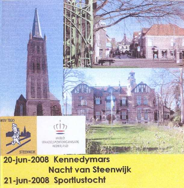 21e Kennedymars van TIGO te Steenwijk van 20 op 21 juni 2008