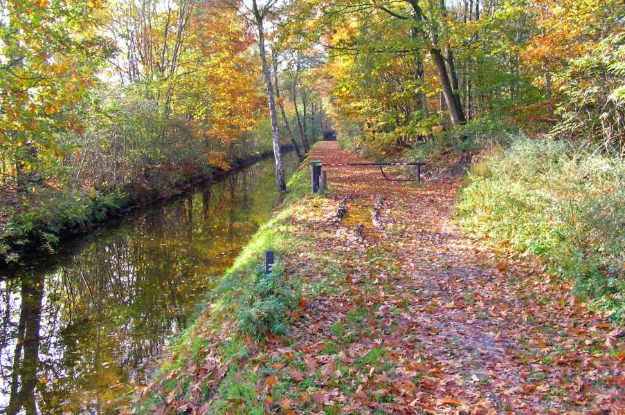 Peellandpad langs het Defensie- of Peelkanaal