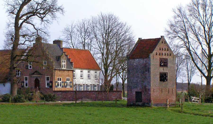 kasteelboerderij Schevichoven, thans proefboerderij van de Stichting Centraal Veevoeder Instituut te Leersum.