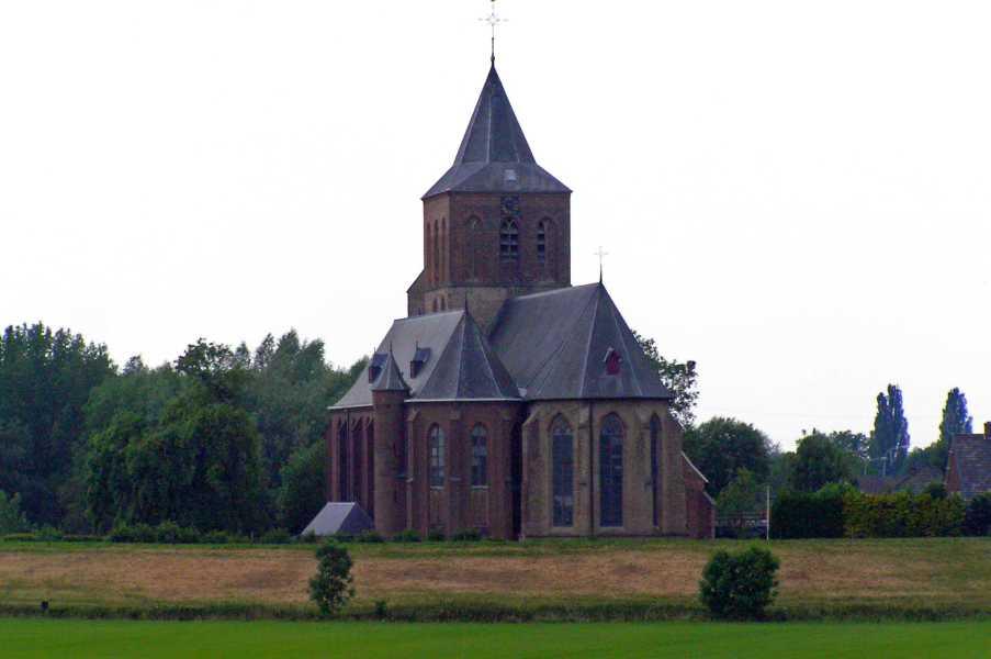 NWB lustrumtocht vanuit Zevenaar op zaterdag 13 juni 2009  Sint Martinuskerk te Oud Zevenaar