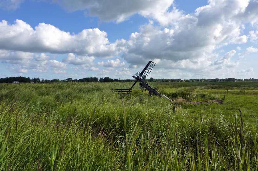 Swaddekuier tweedaagse  een Tjasker in natuurgebied Het Houtwiel