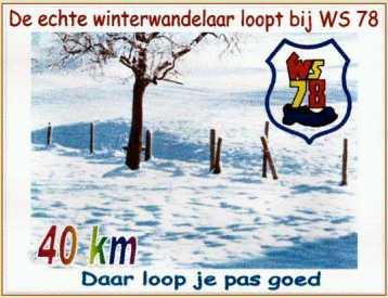 De echte winterwandelaar loopt bij WS78