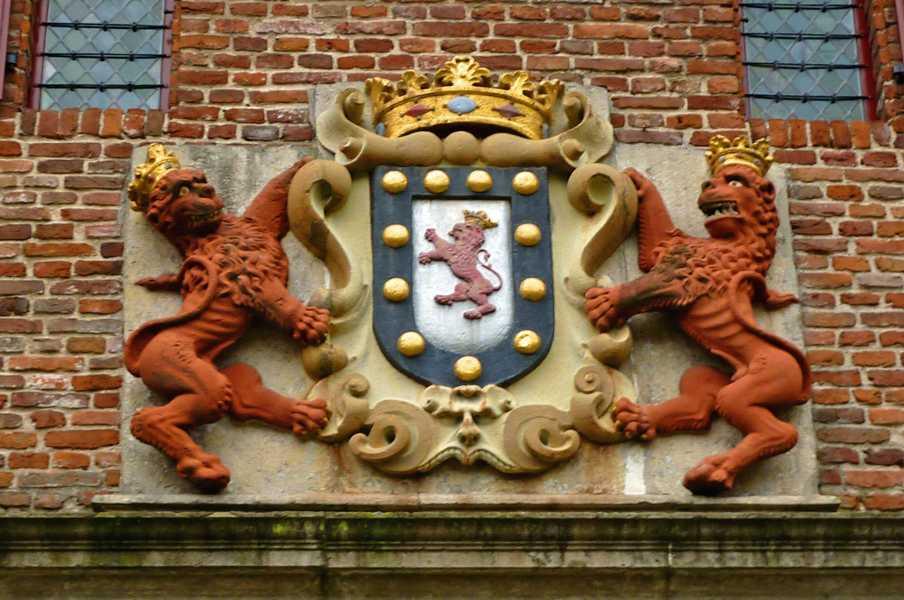NS wandeling Montferland  wapen kasteel Bergh te 's Heerenberg