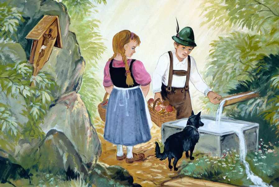 Pandurensteig  muurschildering in Kandelbach
