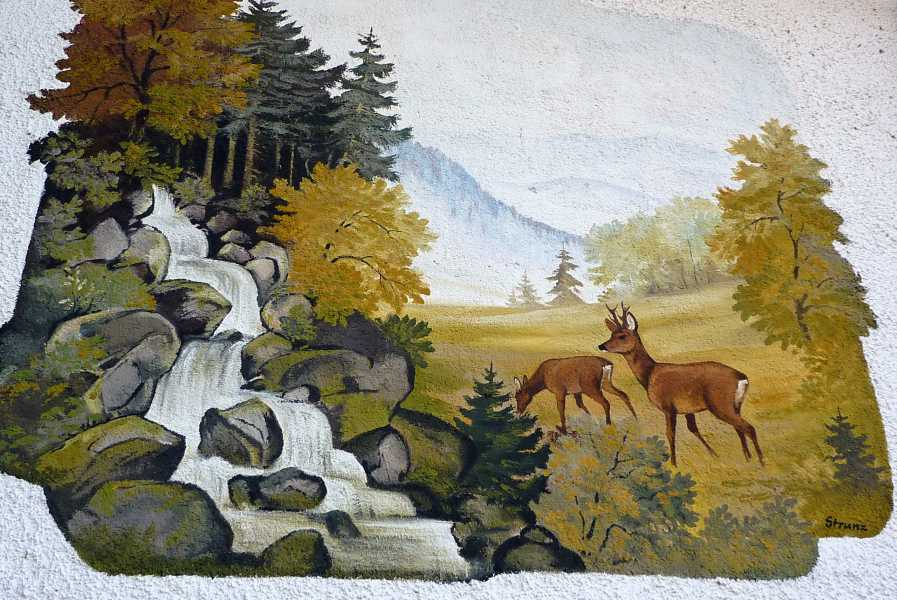 Pandurensteig  muurschildering in Harschetsreuth