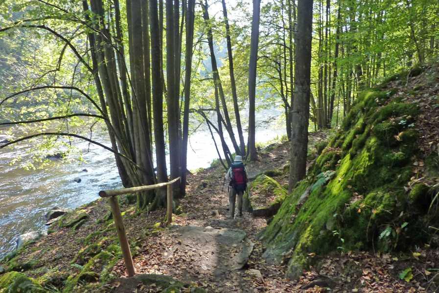 Pandurensteig  langs de Ilz tussen Kalteneck  en Oberilzmühle
