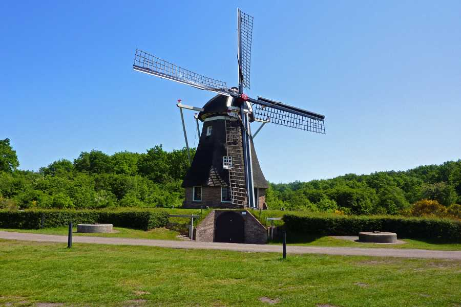 18e Drents Friese Wold Wandelvierdaagse 2012  molen de Zaandplatte