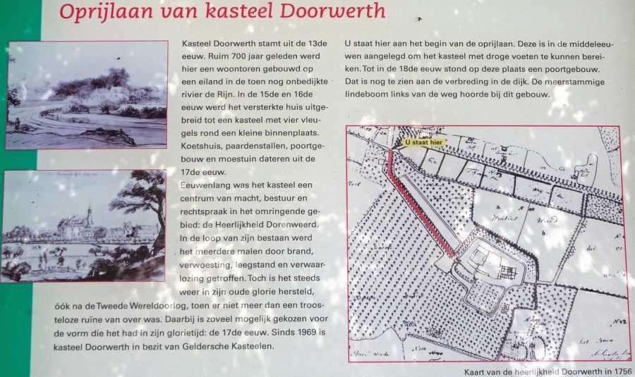 Airbornepad - oprijlaan kasteel Doorwerth