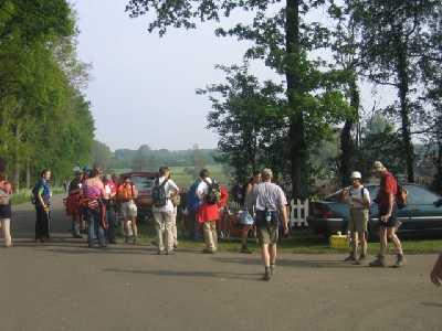 Tijdens de 75 van Hengelo op 13 mei 2006; op 20 km op een verzorgingspost
