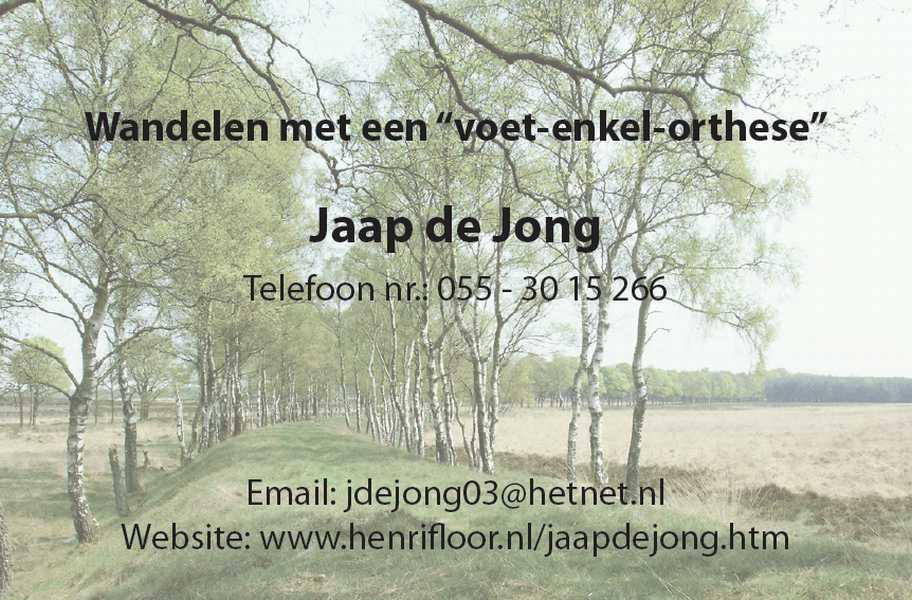 dvisitekaartje Jaap de Jong