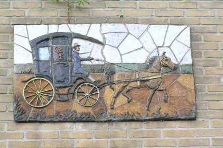 Met de Drentsch-Friese Wold Wandelvierdaagse (Diever) 2006 muurdekoratie in Diever