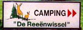 Verwijsbordje naar camping Reeënwissel