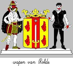 Dit is het wapen van Rolde. Dit wapen is te vinden op de lokatie www.ngw.nl/indexgb.htm  Deze site is mogelijk gemaakt door de Bank Nederlandse Gemeente te Den Haag
