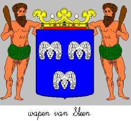 Dit is het wapen van Sleen. Dit wapen is te vinden op de lokatie www.ngw.nl/indexgb.htm  Deze site is mogelijk gemaakt door de Bank Nederlandse Gemeente te Den Haag