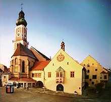 Cham - Rathaus - Pfarrkirche St. Jacob