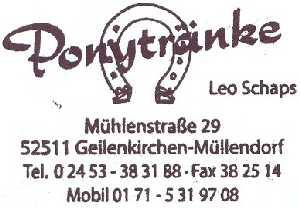 tijdens de Europäischer Fernwanderweg E8, stempel Ponytränke te Müllendorf/Geilenkirchen