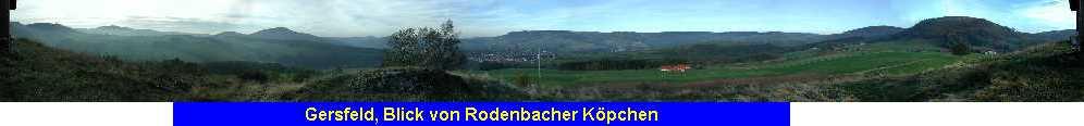 Gersfeld, Blick von Rodenbacher Köpchen