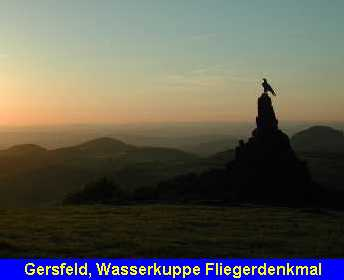 Gersfeld, Wasserkuppe Fliegerdenkmal
