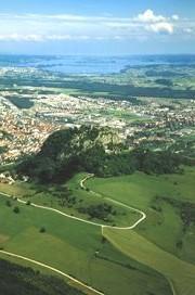 Uitzicht vanaf de Hohentwiel bij Singen op Bodensee