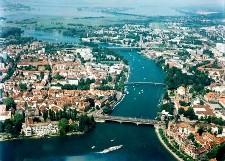Konstanz met op de achtergrond de Bodensee