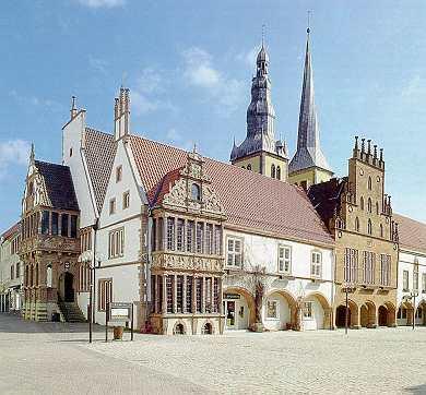 stadhuis op het marktplein in Lemgo