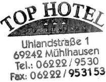 Tophotel, overnachtingsadres in Mühlhausen