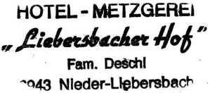 Liebersbacherhof, overnachtingsadres te Nieder-Liebersbach