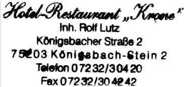 Hotel Restuarant Krone, overnachtingsadres te Stein