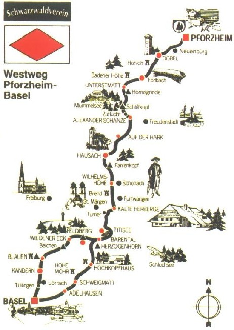 routeverloop Westweg (Pforzheim-Basel)  Klik op de foto voor de volgende foto