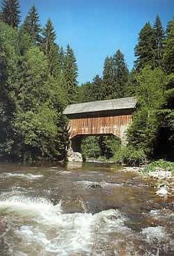 Wutachschlucht - houten brug