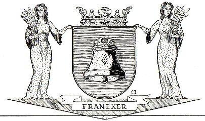 Dit is het wapen van Franeker.   Dit wapen is te vinden  op de lokatie www.ngw.nl/indexgb.htm   Deze site is mogelijk gemaakt door de  Bank Nederlandse Gemeente te Den Haag