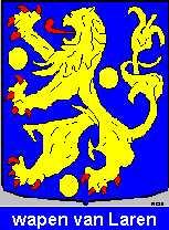 Dit is het wapen van Laren (Gelderland). Dit wapen is te vinden op de lokatie www.ngw.nl/indexgb.htm  Deze site is mogelijk gemaakt door de Bank Nederlandse Gemeente te Den Haag