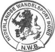 NWB (Nederlandse Wandelsport Bond)- stempel