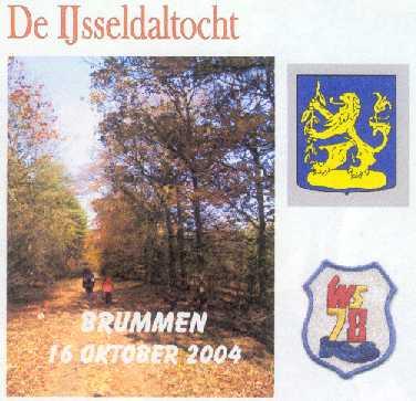 Wandelplaatje van de 40 km lange wandeltocht De IJsseldaltocht, met WS78 vanuit Brummen