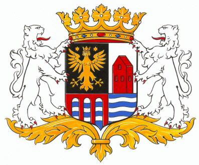 Dit is het wapen van Delfzijl.  Dit wapen is te vinden op de lokatie www.ngw.nl/indexgb.htm   Deze site is mogelijk gemaakt door de Bank Nederlandse Gemeente te Den Haag