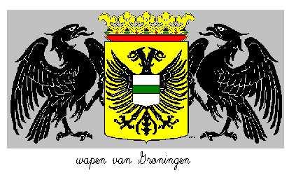 Dit is het wapen van Groningen. Dit wapen is te vinden op de lokatie www.ngw.nl/indexgb.htm  Deze site is mogelijk gemaakt door de Bank Nederlandse Gemeente te Den Haag