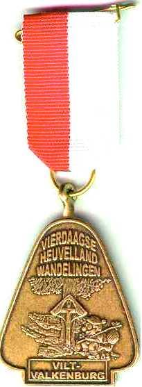 medaille Heuvelland wandelvierdaagse nummer 13