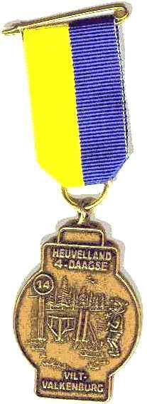 medaille Heuvelland wandelvierdaagse nummer 14