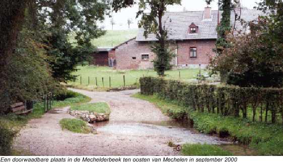 Doorwaadbare plaats in de Mechelderbeek  tijdens de 61e ronde van Zuid-Limburg 2004