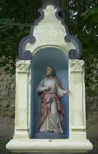 rechter van de drie beeldjes bij Valkenburg aan de Geul