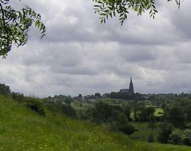 Met de Ronde van Zuid-Limburg 2006; kerk van Vijlen nabij de Mechelder- of Lombergbeek