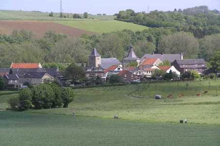 Met de Ronde van Zuid-Limburg 2006; gezicht op Oud Valkenburg