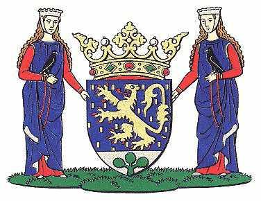 Dit is het wapen van Susteren. Dit wapen is te vinden op de lokatie www.ngw.nl/indexgb.htm   Deze site is mogelijk gemaakt door de Bank Nederlandse Gemeente te Den Haag
