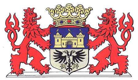 Dit is het wapen van Valkenburg aan de Geul. Dit wapen is te vinden  op de lokatie www.ngw.nl/indexgb.htm   Deze site is mogelijk gemaakt door de  Bank Nederlandse Gemeente te Den Haag