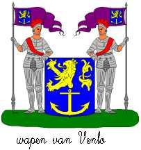 Dit is het wapen van Venlo. Dit wapen is te vinden op de lokatie www.ngw.nl/indexgb.htm  Deze site is mogelijk gemaakt door de Bank Nederlandse Gemeente te Den Haag